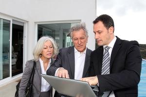 Objektbesichtigungen mit Kaufinteressenten und Immobilienmakler Haltern