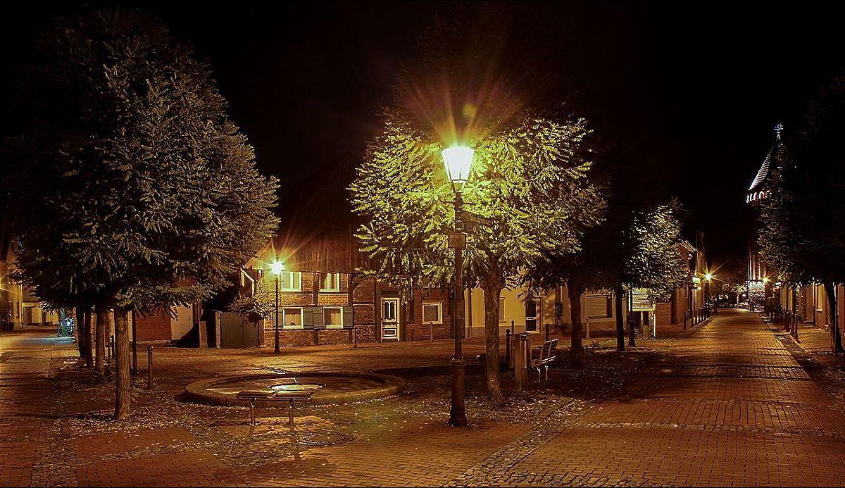 Gänsemarkt bei Nacht
